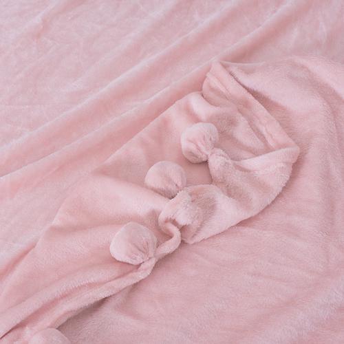 Покрывало бубон 200/220 цвет светло-персиковый фото 2