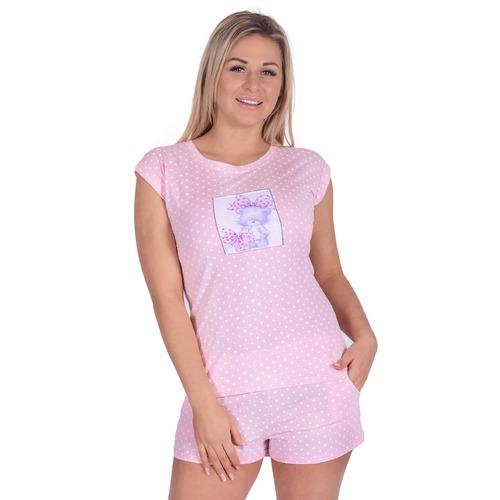 Женская пижама Д 82 горох на розовом р 52 фото 1