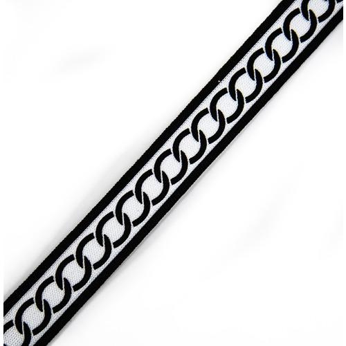 Лампасы №125 черный белый с кольцами 3см 1 метр фото 1