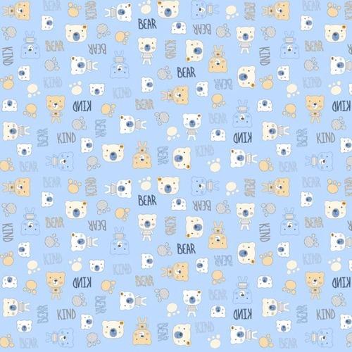 Ткань на отрез фланель 90 см 21186/2 Мишки фото 1
