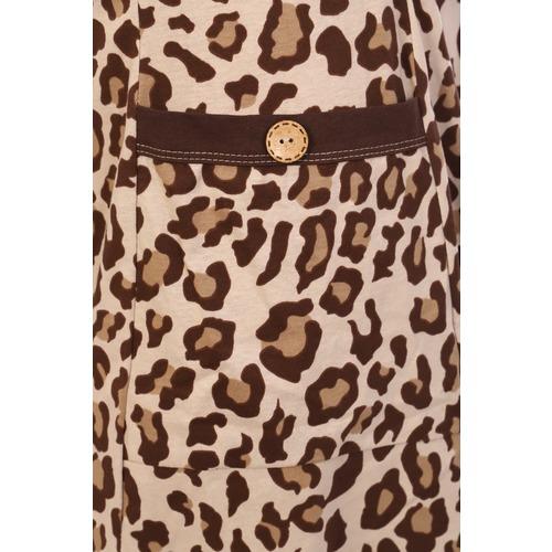 Халат 7058 цвет леопард р 56 фото 4