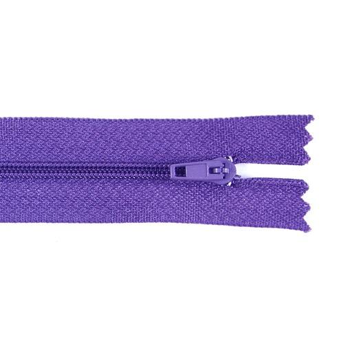 Молния пласт юбочная №3 20 см цвет фиолетовый фото 1