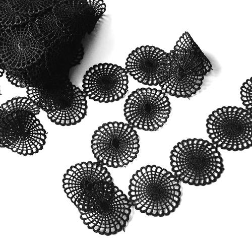 Кружево гипюр 4 см черный 2258 15ярд фото 1
