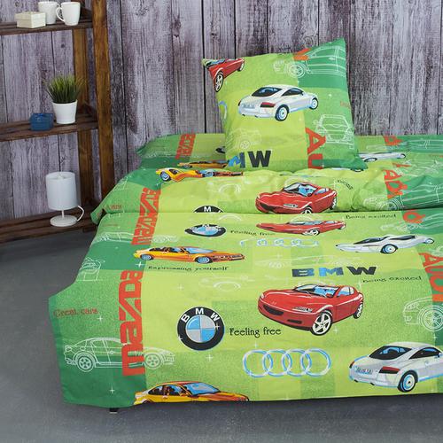 Детское постельное белье из бязи 1.5 сп 3340/4 Авторалли фото 1