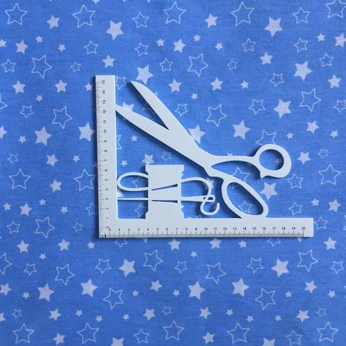 Ткань на отрез бязь 120 гр/м2 детская 150 см Звездочки на голубом фото 3