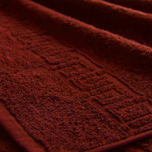Полотенце махровое Туркменистан 70/135 см цвет винный фото 1