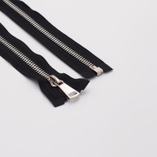 Молния металл №8ТТ никель разъем 80см D580 черный фото 1