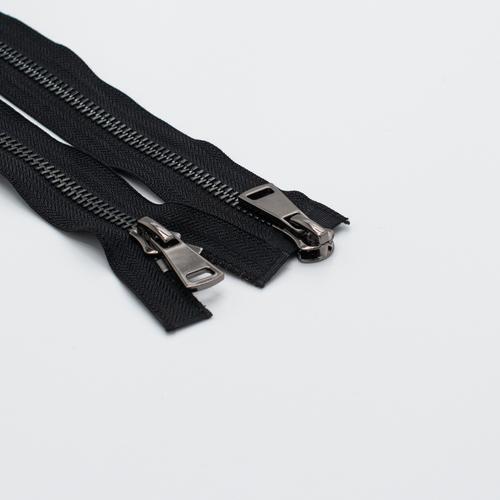 Молния металл №8ТТ черный никель 2 замка 75см D580 черный фото 1