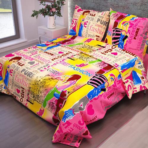 Простыня на резинке бязь детская 4957/1 Модницы Fashion цвет розовый 90/200/20 см фото 2