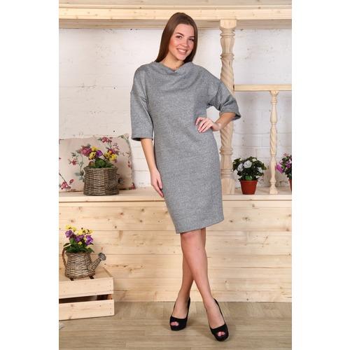 Платье Ирма акрил качель серое Д456 р 48 фото 1