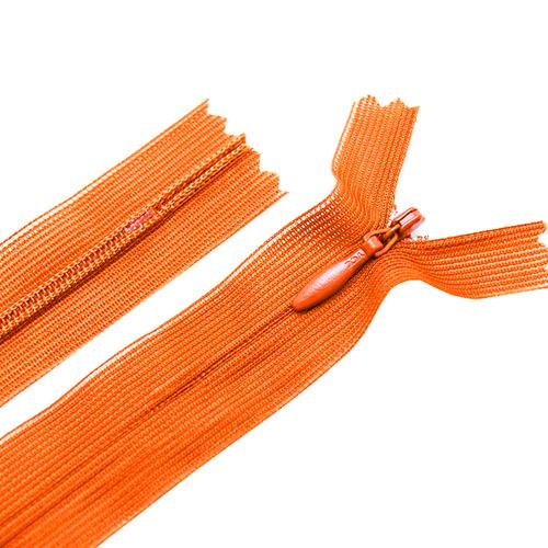 Молния пласт потайная №3 20 см цвет оранжевый фото 1