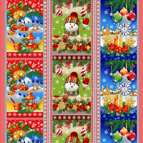 Вафельное полотно набивное 150 см Новогодняя Сказка 11492/1 фото 1