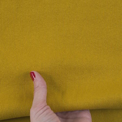 Ткань на отрез кашкорсе с лайкрой цвет Горчичный фото 2