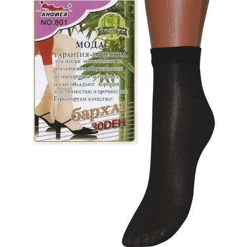 Женские капроновые носки Анфиса 801 30 Den черные фото 1