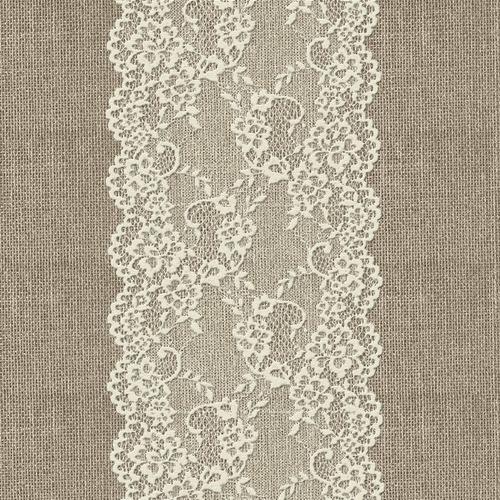 Ткань на отрез дорожка 50 см 5494/1 Кружево фото 1