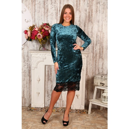 Платье Каролина изумруд Д476 р 42 фото 1