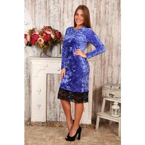 Платье Каролина синее Д476 р 48 фото 1