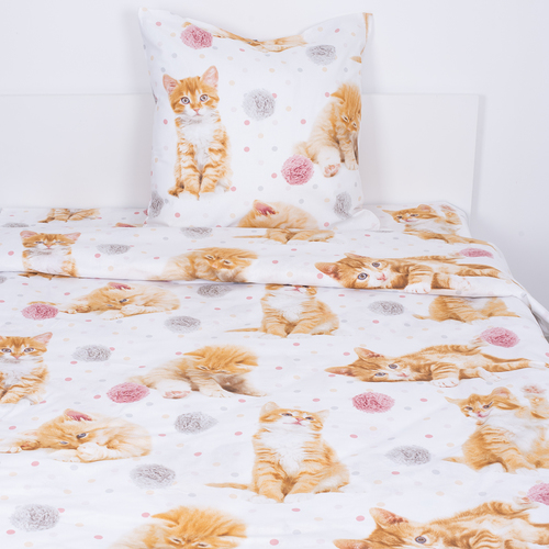 Детское постельное белье 16084/1 Рыжие котята 1.5 сп перкаль фото 1
