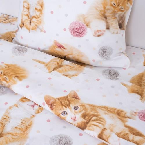 Детское постельное белье 16084/1 Рыжие котята 1.5 сп перкаль фото 3