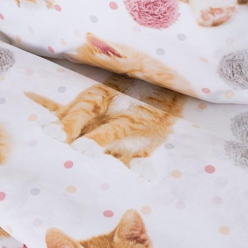 Детское постельное белье 16084/1 Рыжие котята 1.5 сп перкаль фото 6