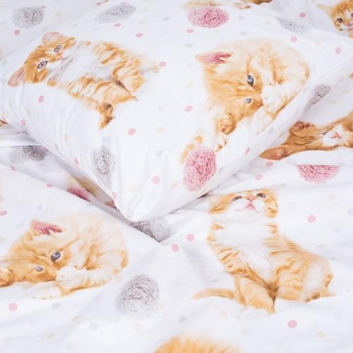 Детское постельное белье 16084/1 Рыжие котята 1.5 сп перкаль фото 4