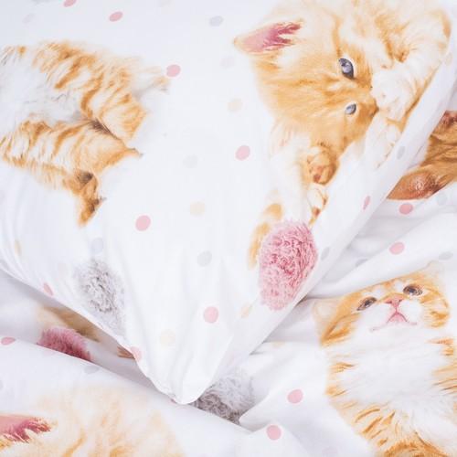Детское постельное белье 16084/1 Рыжие котята 1.5 сп перкаль фото 5