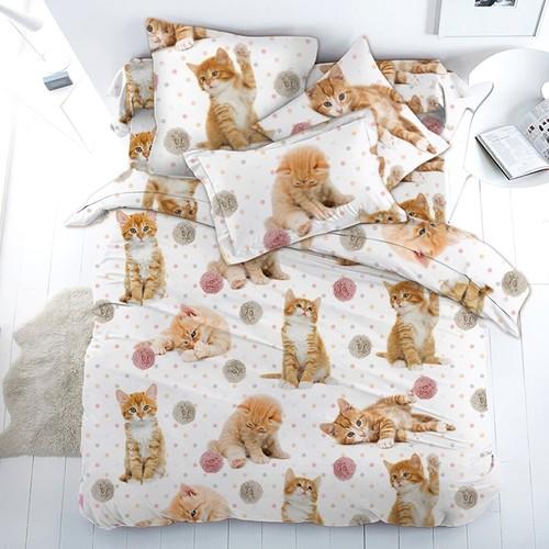 Детское постельное белье 16084/1 Рыжие котята 1.5 сп перкаль фото 2