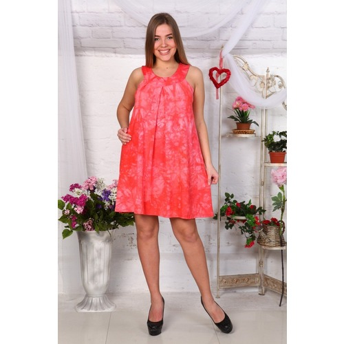 Платье Глория вискоза красное Д464 р 52 фото 1