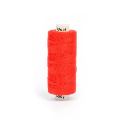 Нитки бытовые IDEAL 40/2 366м 100% п/э, цв.157 красный фото 1