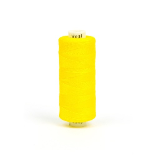 Нитки бытовые IDEAL 40/2 366м 100% п/э, цв.125 желтый фото 1