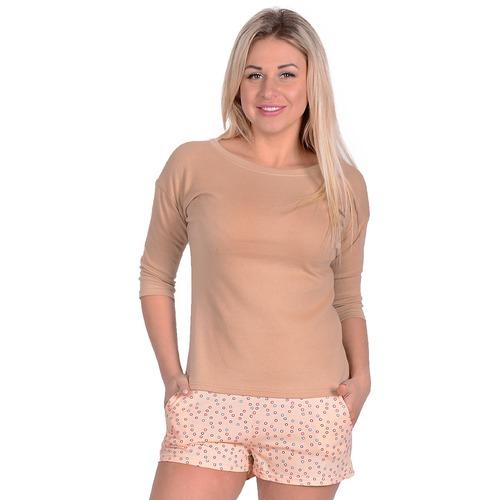 Женская пижама ЖП 001 колечки + песочный р 44 фото 1
