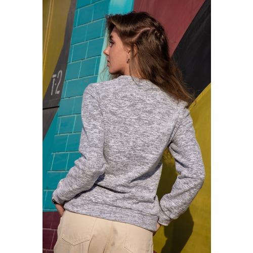 Джемпер Аркадия 9874 цвет светло-серый р 46 фото 4