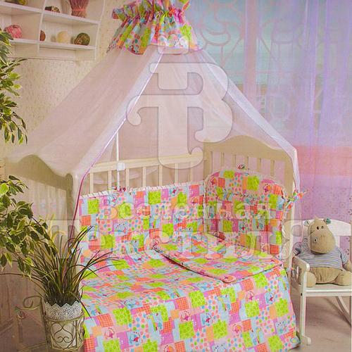 Набор в кроватку 7 предметов с оборками Зоо фото 1
