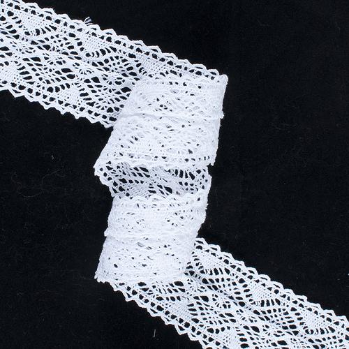 Кружево лен DX6085 Белый 5см уп 10 м фото 1