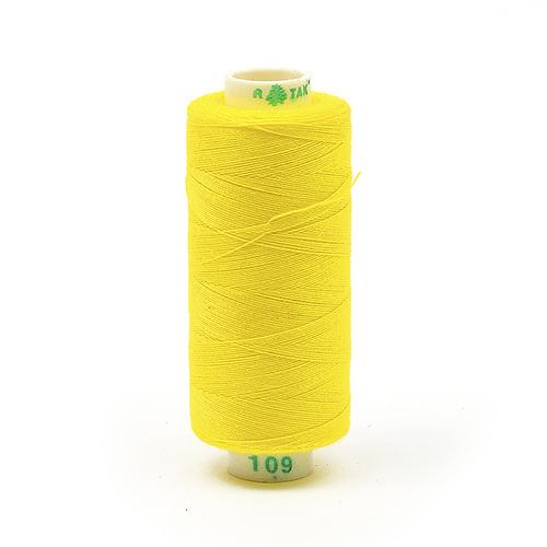 Нитки бытовые Dor Tak 40/2 366м 100% п/э, цв.109 желтый фото 1