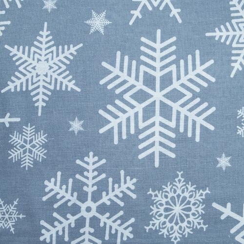 Ткань на отрез бязь плательная 150 см 112 Снежинки фото 3