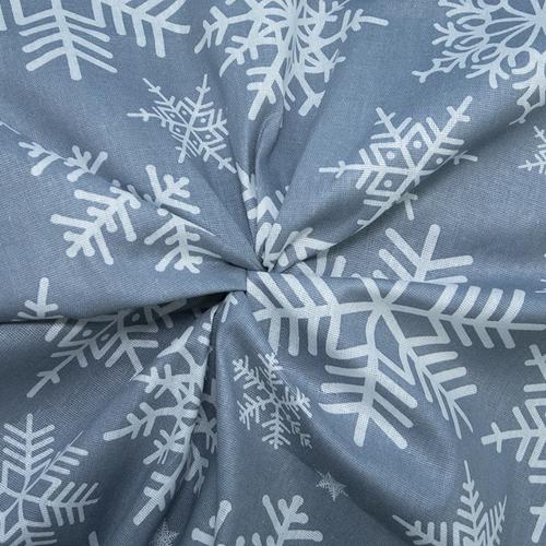 Ткань на отрез бязь плательная 150 см 112 Снежинки фото 4