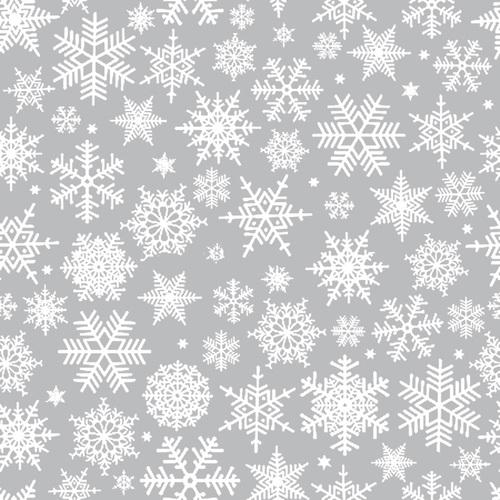 Ткань на отрез бязь плательная 150 см 112 Снежинки фото 1