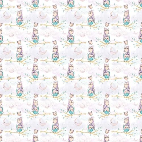 Ткань на отрез перкаль 150 см 13233/1 Owls Модель 5 фото 1