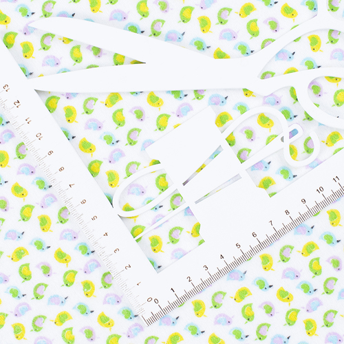 Ткань на отрез фланель 90 см 95031 Птички цвет желтый фото 2
