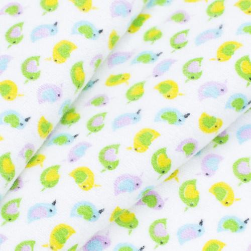Ткань на отрез фланель 90 см 95031 Птички цвет желтый фото 3