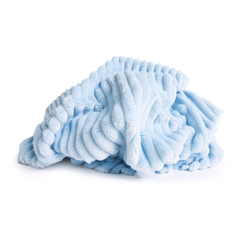 Маломеры Плюш Минки Полоса Китай 180 см цвет голубой 0.9 м фото 1