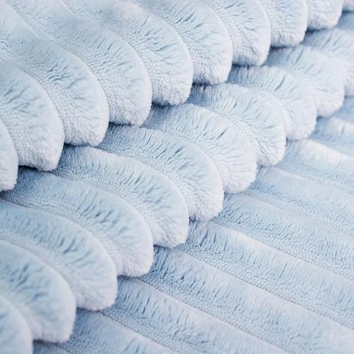 Маломеры Плюш Минки Полоса Китай 180 см цвет голубой 0.9 м фото 2
