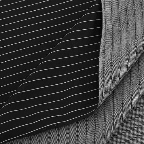 Маломеры футер с лайкрой Жаккард цвет черный 1 м фото 2