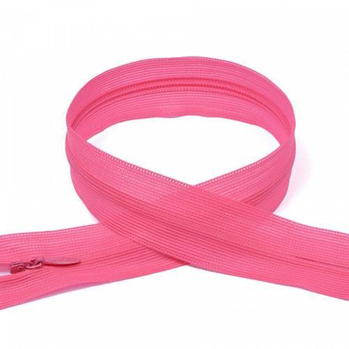 Молния пласт потайная №3 50 см цвет 337 яр-розовый неон фото 1