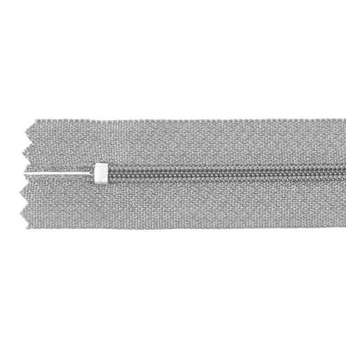 Молния пласт юбочная №3 20 см цвет 299 св-серый фото 2