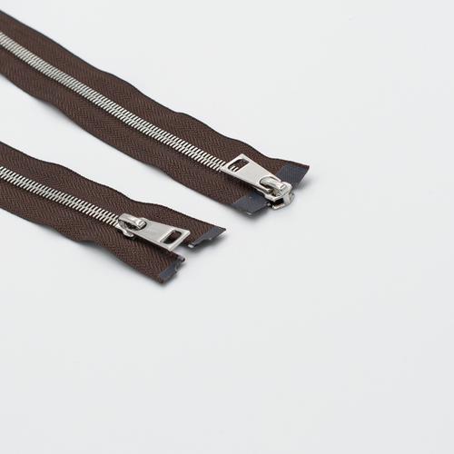 Молния металл №5СТ никель два замка 75см D570 коричневый фото 1