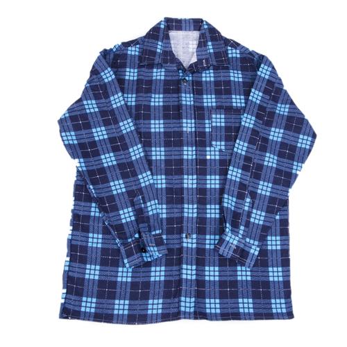 Рубашка мужская фланель клетка 60-62 цвет синий модель 3 фото 1