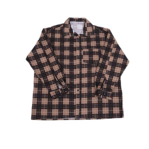 Рубашка мужская фланель клетка 52-54 цвет коричневый модель 1 фото 1