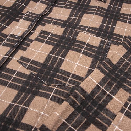 Рубашка мужская фланель клетка 52-54 цвет коричневый модель 1 фото 2